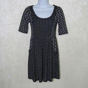 Saturday/Sunday Black and White Textured Dress